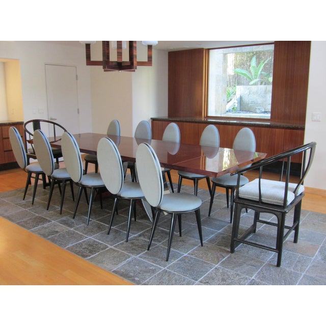 Art Deco Oval Back Lacquer Dining Chairs - 10 - Image 3 of 11