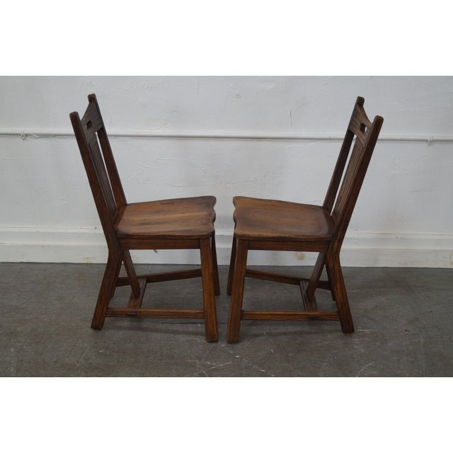 Brandt Ranch Oak Rust Dining Chairs - Set of 4 - Image 3 of 10