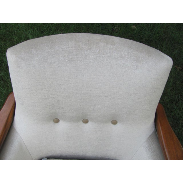 Metal Vintage Mid Century Finn Juhl Style Lounge Chair For Sale - Image 7 of 13