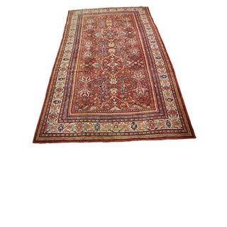 """1920s Vintage Sultanabad Handmade - 10'4"""" X 16'11"""" For Sale"""