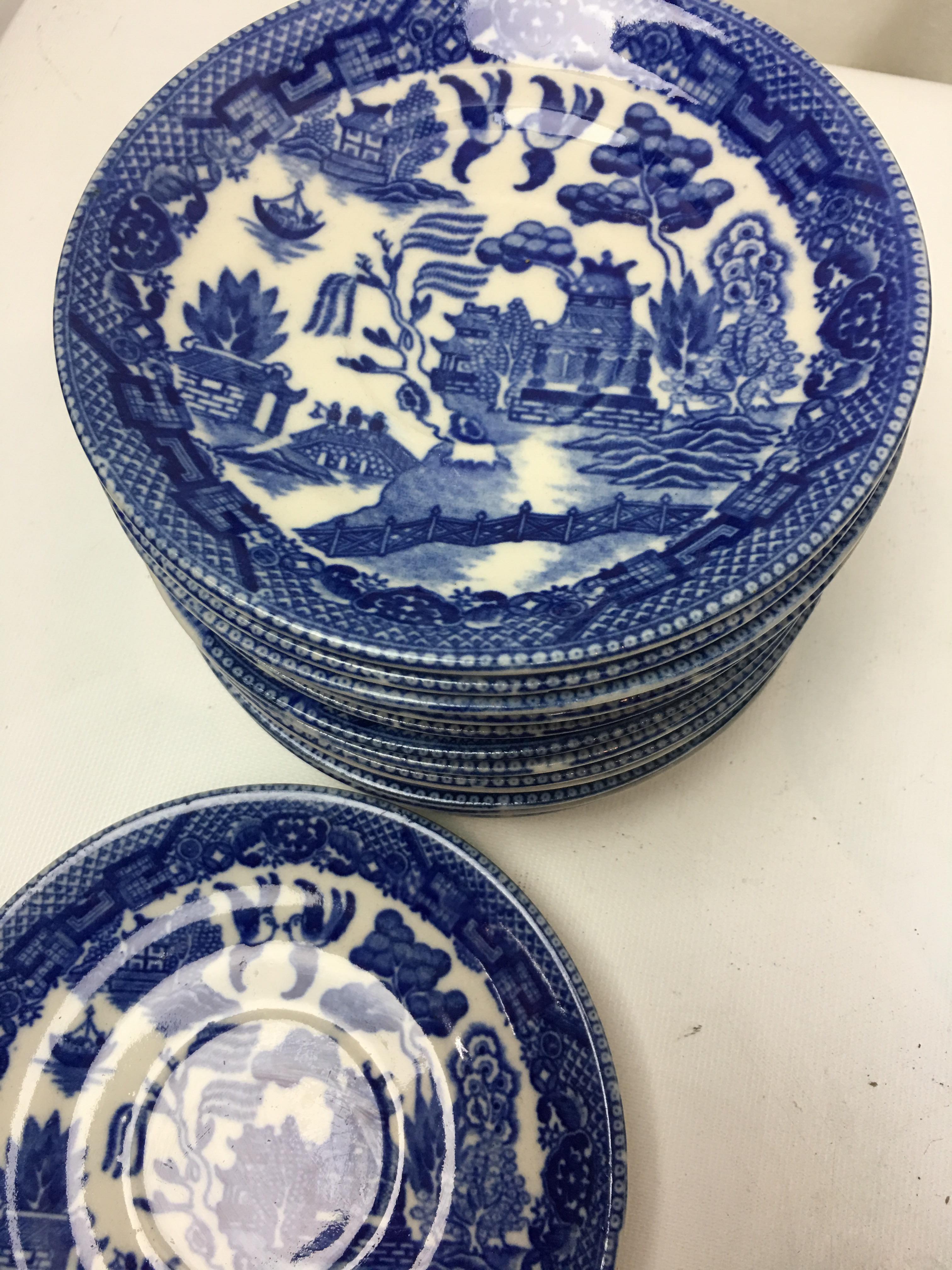Blue \u0026 White Chinoiserie Plates - Set of 16 - Image 3 ...  sc 1 st  Chairish & Blue \u0026 White Chinoiserie Plates - Set of 16 | Chairish