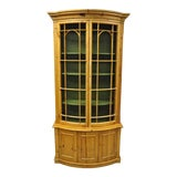 Image of 20th Century Spanish Gothic Wire Front Door Bookcase Hutch Cabinet For Sale