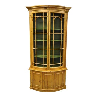 20th Century Spanish Gothic Wire Front Door Bookcase Hutch Cabinet