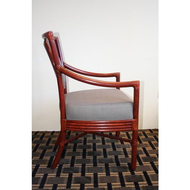 McGuire Orlando Diaz-Azcuy Salon Dining Arm Chair - Image 4 of 8