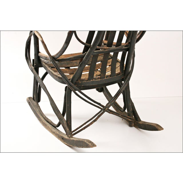 Vintage Adirondack Twig Wood Rocker - Image 11 of 11