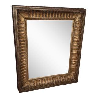 Antique Framed Carved Wood Mirror For Sale