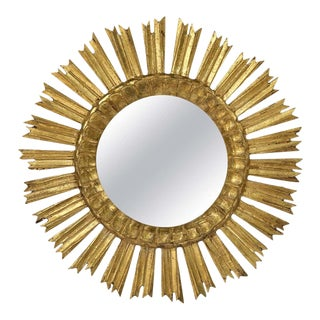 French Gilt Starburst or Sunburst Mirror (Diameter 21) For Sale