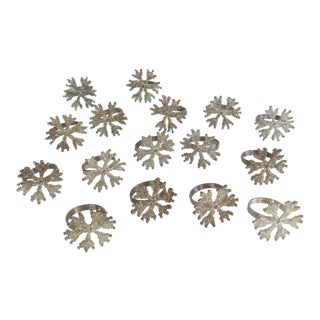 Snowflake Napkin Rings-16 Pieces For Sale