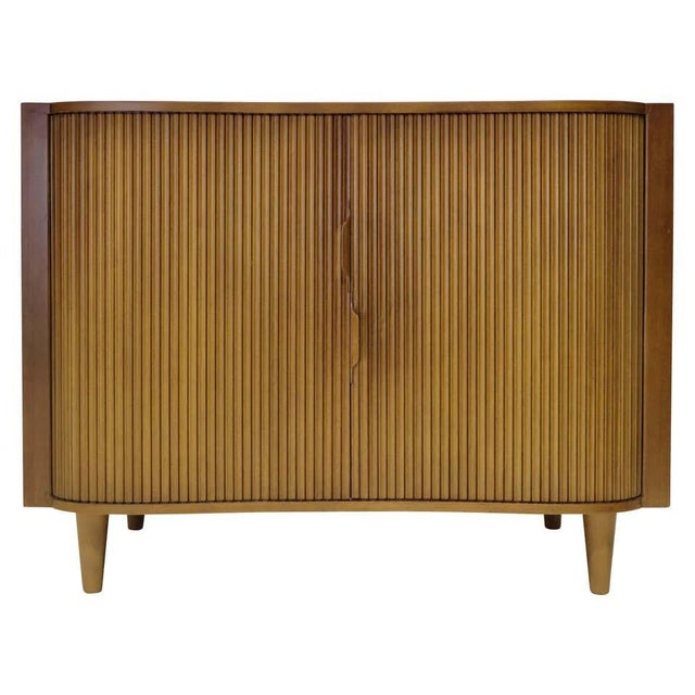 1950s Dunbar Mister Chest With Tambour Doors by Edward Wormley For Sale - Image 10 of 10