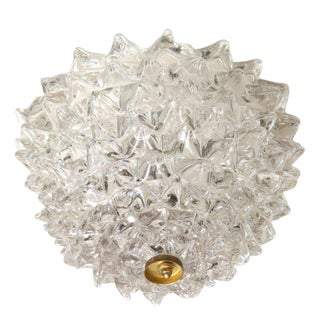 Vintage Barovier Spiked Glass Flush Mount Ceiling Light For Sale
