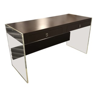 Vintage Mid-Century Modern Lucite and Laminate Desk For Sale
