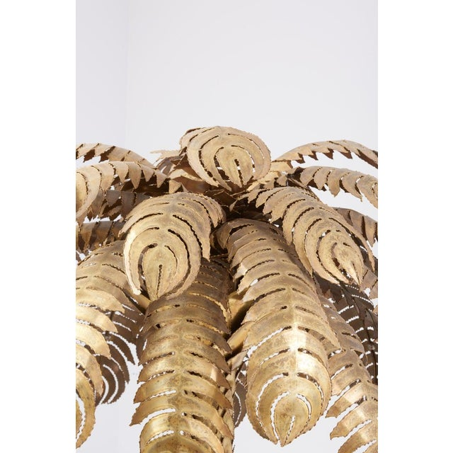 Pair of Very Impressive Brass Palm Floor Lamps by Maison Jansen For Sale - Image 6 of 9