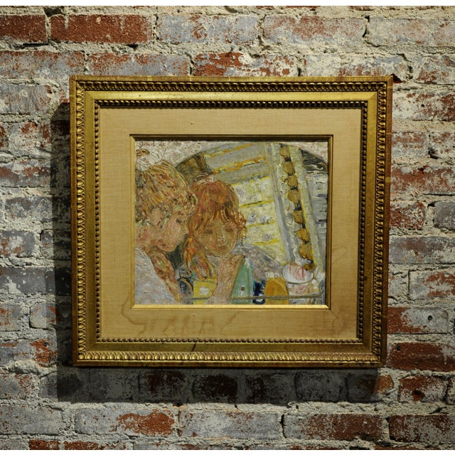 Helene Girod De l'Ain -Girl in the Mirror -French Oil Painting C.1930s For Sale In Los Angeles - Image 6 of 6