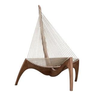 Danish Modern Jorgen Hovelskov Harp Chair For Sale