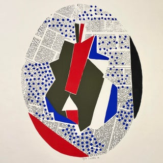 1971 Modernist Style Serigraph Signed #7/50 by Louttre B. For Sale