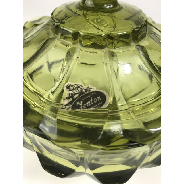 1970s Traditional Fenton Glass Covered Candy Dish For Sale - Image 4 of 10