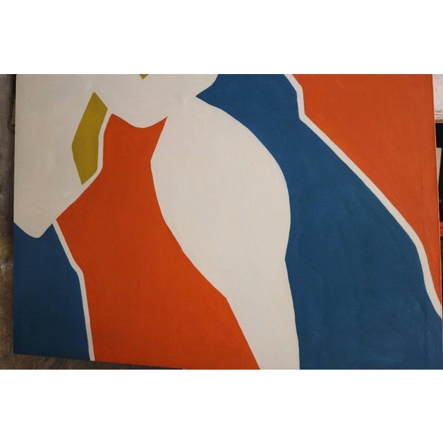 Mid 20th Century Large-Scale Hard Edge Painting by Antonia Davis For Sale - Image 5 of 9
