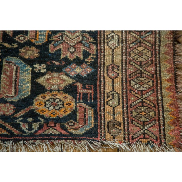 """Antique Tattered Malayer Square Rug - 3'5"""" x 4'3"""" - Image 9 of 10"""