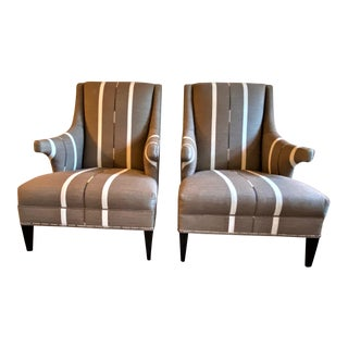 Hans Wenger Style Contemporary Armchairs - a Pair For Sale