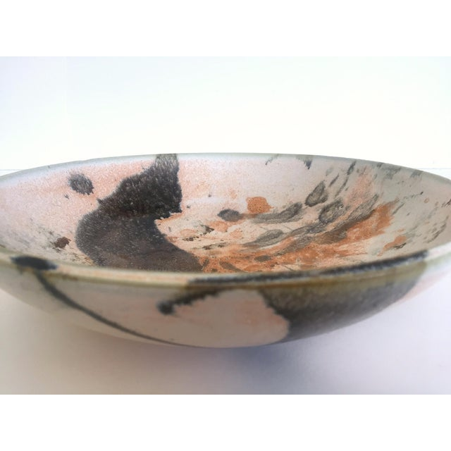 Vintage Mid Century Modern Studio Pottery Abstract Expressionist Signed Ceramic Bowl For Sale - Image 11 of 13