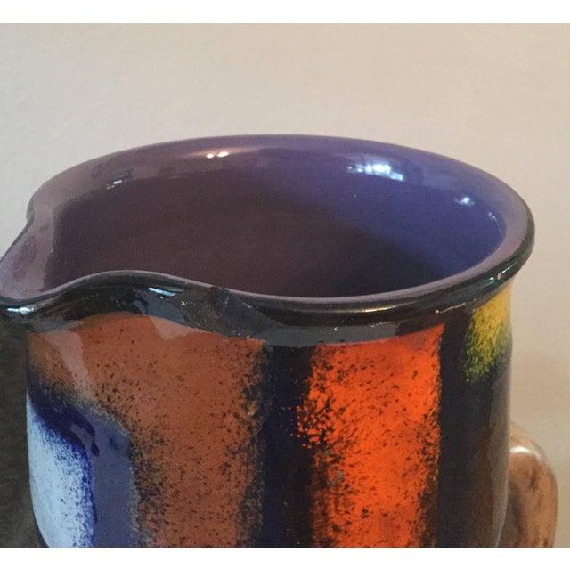 Modernist Fratelli Fanciullacci Mid-Century Ceramic Pitcher - Image 4 of 5