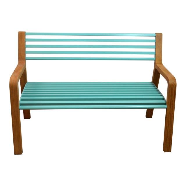 Miraculous Fermob Somerset Teak Metal Bench Alphanode Cool Chair Designs And Ideas Alphanodeonline