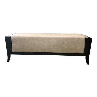Modern Haven Walnut Upholstered Bench For Sale