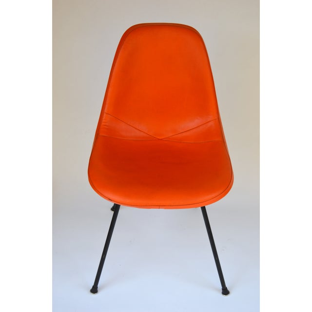 Herman Miller Herman Miller Eames Orange Vinyl Side Shell Chair For Sale - Image 4 of 9