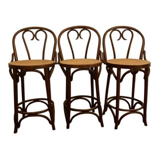 Thonet Style Bentwood Bar Stools - Set of 3