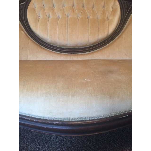 Antique Victorian Cameo Loveseat - Image 5 of 9