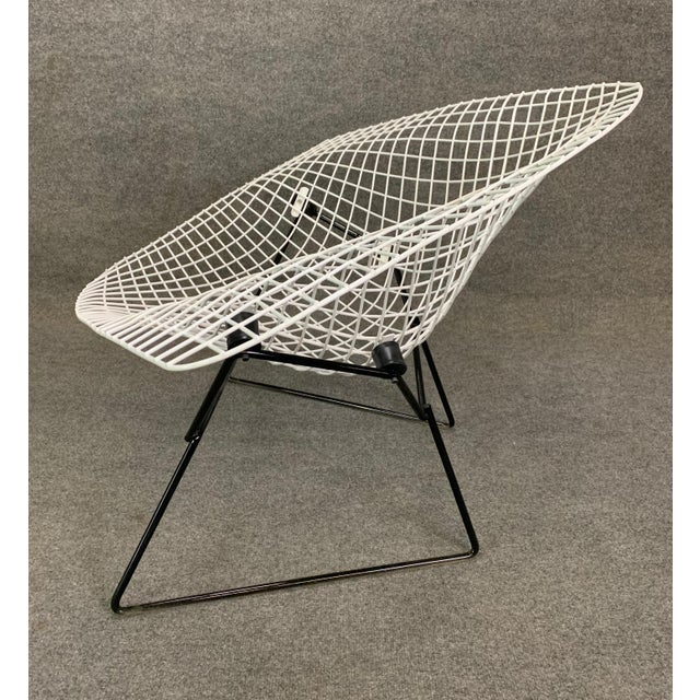 Vintage Mid Century Modern Large Diamond Chair by Harry Bertoia for Knoll For Sale - Image 10 of 11