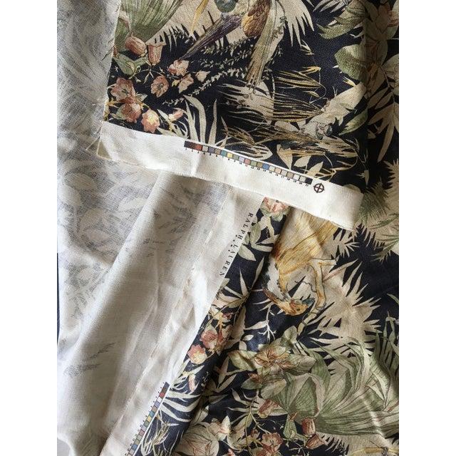 "Linen Moving Sale - Make an Offer - Everything Must Go - Ralph Lauren Handscreened Linen ""Coleridge"" in Black - 3.5 Yards For Sale - Image 7 of 7"