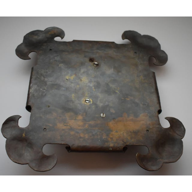 Arts and Crafts Brass Hammered Door Knocker For Sale In Los Angeles - Image 6 of 7