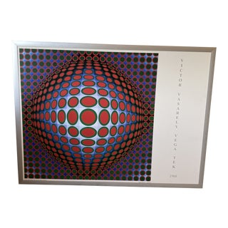 "Victor Vasarely ""Vega Tek, 1968"" Op Art Poster Print For Sale"