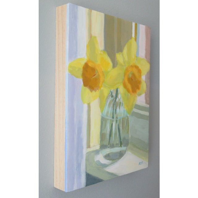 Shabby Chic Daffodil on the Windowsill by Anne Carrozza Remick For Sale - Image 3 of 7
