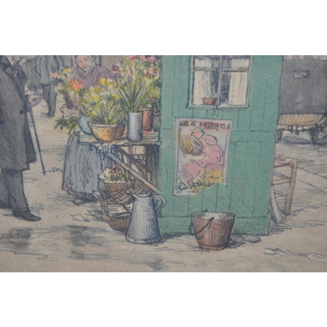 Czech Artist t.f. Simon Color Lithograph C.1920 For Sale In San Francisco - Image 6 of 7