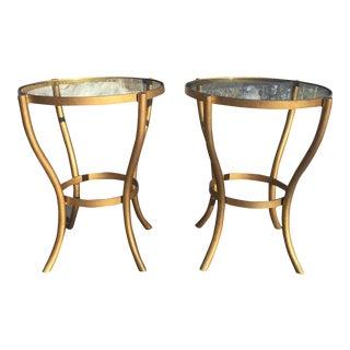 Modern Glass End Tables - A Pair
