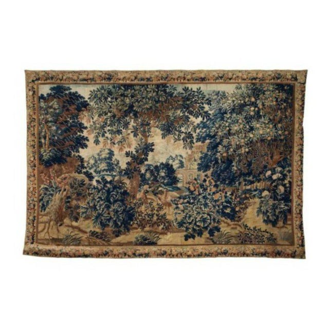 A 17th / Early 18th Century Flemish Pastoral Tapestry Prov. Christies NYC. For Sale - Image 11 of 12
