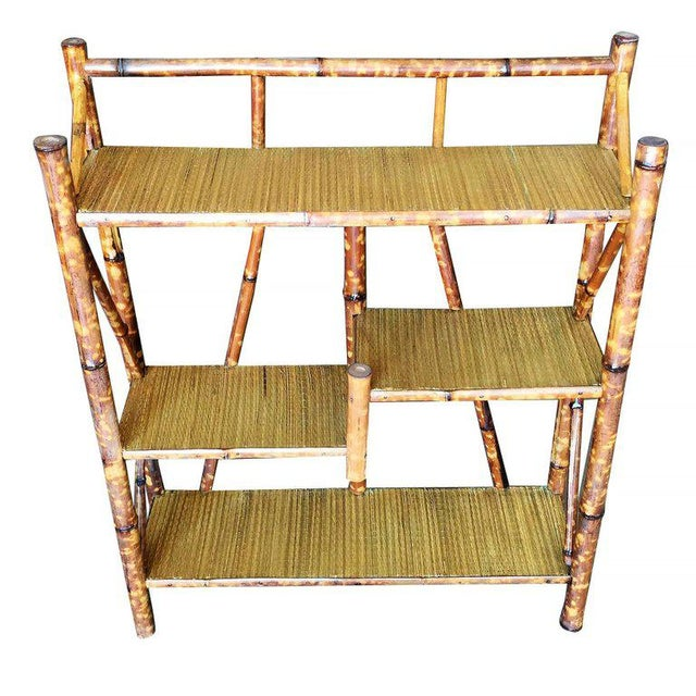 Restored Tiger Bamboo Four-Tier Bookshelf - Image 2 of 5