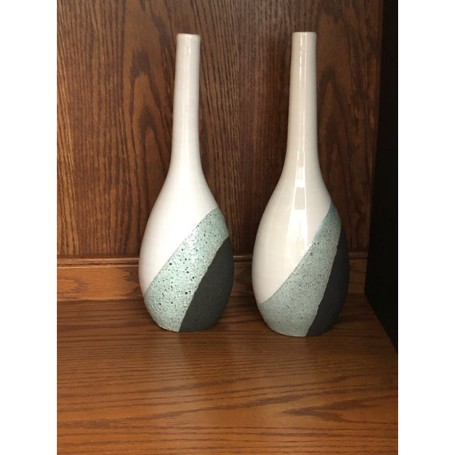 Ettore Sottsass Vintage Ettore Sottsass Bitossi Pottery Volcanic Glaze Raymor Vase - a Pair For Sale - Image 4 of 12