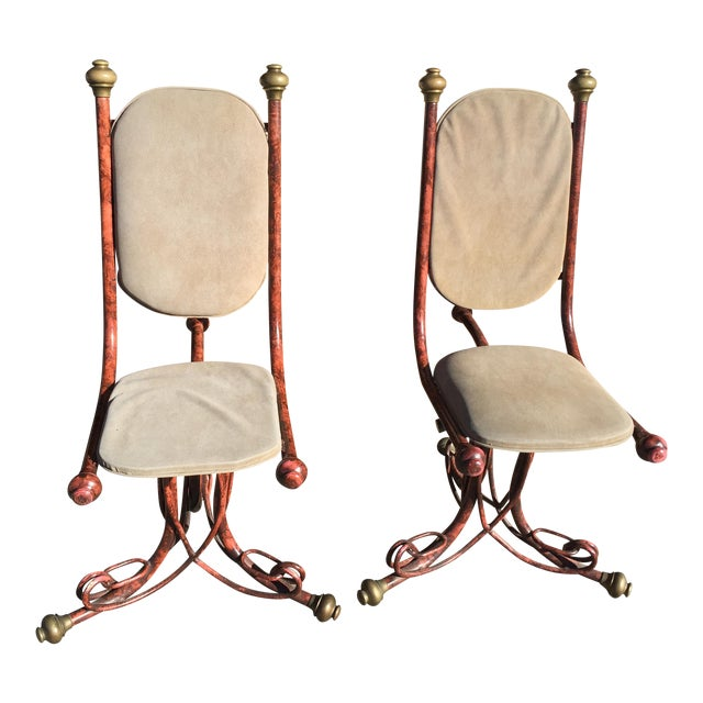 Arthur Court Brutalist Chairs - a Pair - Image 1 of 6