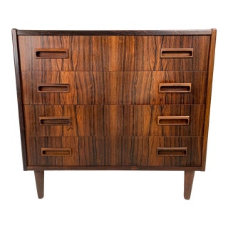1960s Vintage Borge Seindal Four Drawer Rosewood Gentleman's Chest For Sale