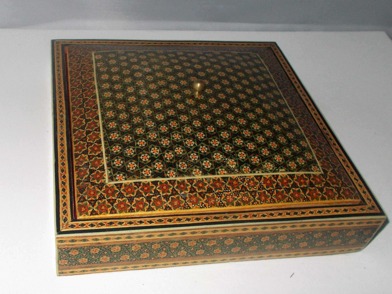 Vintage Persian Khatam Marquetry Box Chairish