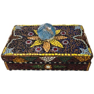Pique Assiette French Mosaic Box For Sale