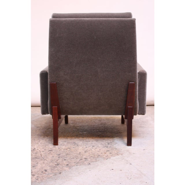 Early Jens Risom Walnut and Mohair Lounge Chair - Image 7 of 11