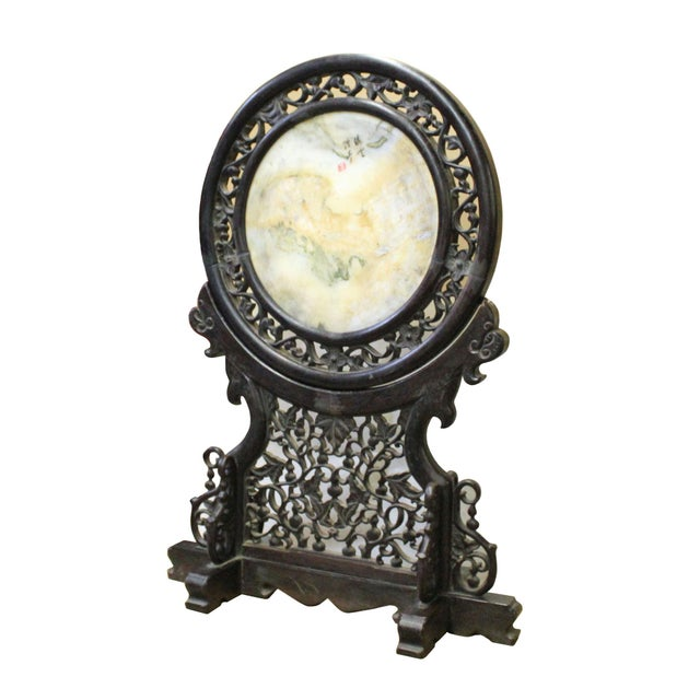 Chinese Chinese Dream Stone Fengshui Round Table Top Display Art For Sale - Image 3 of 9