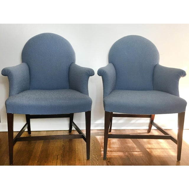 Traditional Vintage Saybolt Cleland Upholstered Armchairs - a Pair For Sale - Image 3 of 10