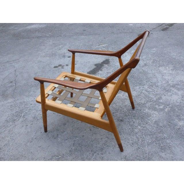 Jason Møbler 1950's Vintage Jason Ringsted Danish Modern Rosewood & Teak Armchair For Sale - Image 4 of 11