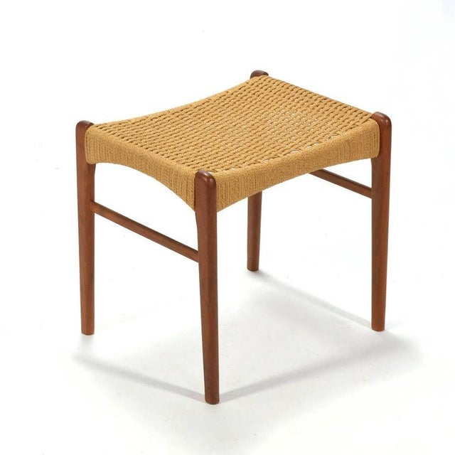 Paper Peder Kristensen Teak Stool by Glyngore Stolefabrik For Sale - Image 7 of 9