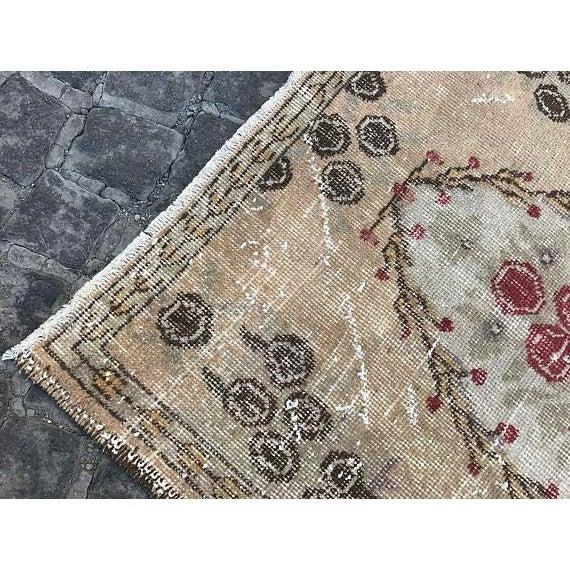 Floral Turkish Carpet - 2′11″ × 5′9″ For Sale - Image 4 of 6